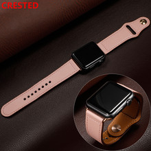 Leather strap For apple watch band pulseira apple watch 5 4 3  band 44mm/40mm iwatch band 42mm/38mm correa bracelet watchband цена и фото