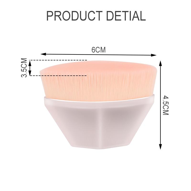 Hot Single Six Corners Powder Makeup Brushes Diamond Cosmetic Hexagon No Trace Foundation Brush Silicone Make Up Brushes 6