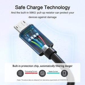 Image 3 - CHOETECH 10 sztuk dużo Micro USB kabel 5V 2.4A dla samsung 3.9ft 1.2m szybka ładowarka kabel telefoniczny dla xiaomi nokia ASUS oppo