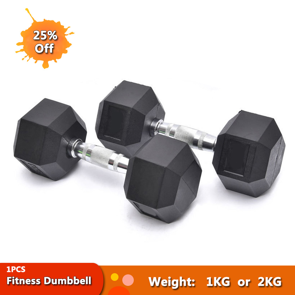High Quality Fitness Workout Dumbbells Cast Iron Coated Comfortable Weights Exercise Hexagon Dumbbells Equipment Tools