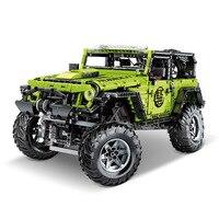 Technic RC Jeeped wrangler car super racing sports car MOC 2425 adventurer building blocks bricks toys for kids bristhday gifts