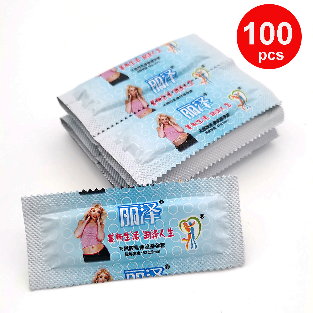 100 Pcs Condoms Smooth Lubricated Condoms For Men Ultra Thin Penis Sleeve Contraception Condones Sex Toys Adult Sex Products