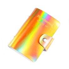 20 חריצי ריק נייל ארט Stamping צלחות מחזיק לייזר כסף מקרה 6.5*12.5 צלחות ארגונית מניקור תבניות תיק חדש עיצוב חם