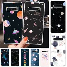 Ivits Beautiful planet Newly Arrived Black Cell Phone Case For Samsung S6 S7 S7edge S8 S8plus S9 S9plus S10 S10 plus E cheap gear vr 5 0 3d vr glasses helmet built in gyro sens for samsung galaxy s9 s9plus s8 s8 note5 note 7 s6 s7 s7edge