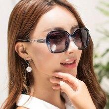 2019 Classic Oversized Sunglasses Women Brand Designer SquareLadies Sun Glasses Driving Vintage UV400 Glasses Feminino Oculos