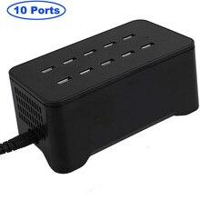 10 портов зарядная станция 125 Вт 25А настольное USB зарядное устройство для iPhone Xs Max XR X 8 7 Plus, iPad Pro Air Mini Galaxy S9 S8