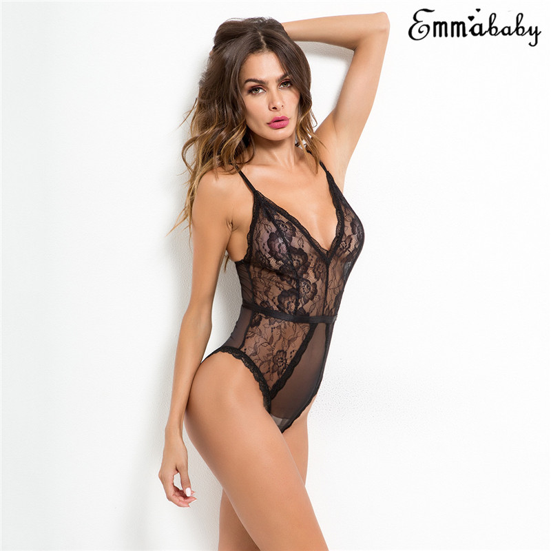 <font><b>Women</b></font> Sissy <font><b>Catsuit</b></font> body <font><b>sexy</b></font> Lingerie porno sheer Bodysuit Erotic <font><b>Sexy</b></font> See-through Transparent Underwear Nightwear Costume image
