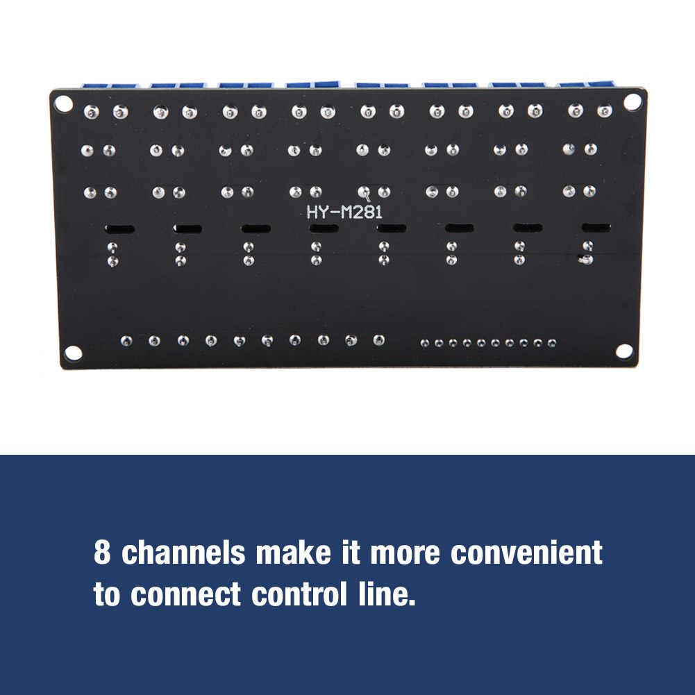 5V 8 Kanalen Ssr Laag Niveau Trigger Solid State Relais Module Dc Naar Ac Met Zekering Voor Arduino Diy kit