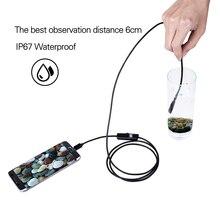 7 мм телескопическая Wifi эндоскоп камера полужесткая змея камера USB эндоскоп бороскоп Android эндоскоп для Iphone планшета