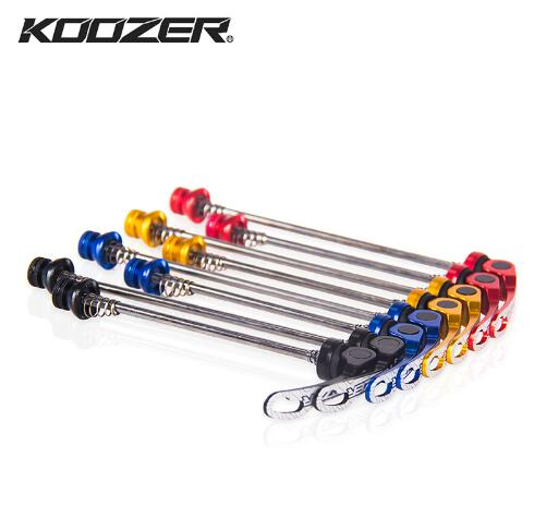 KOOZER 1pair Aluminium Alloy Bicycle Wheel Hub Skewers Quick Release Road Mountain Bike Front & Rear Skewer Bolt Lever Axle(China)