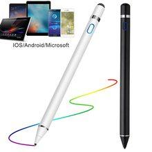 Universal capacitivo ativo caneta de tela sensível ao toque inteligente ios/android apple ipad telefone lápis toque desenho tablet smartphone