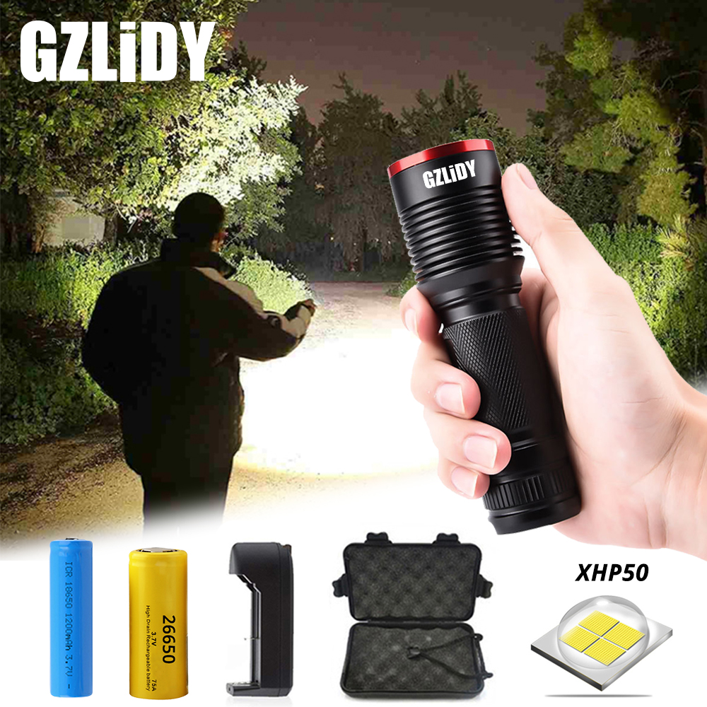 Zoomable 60000Lumens 5-Mode High Power T6 LED Flashlight Torch 18650 Charger USA