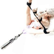 Nylon Handcuffs Ankle Cuffs Bondage System,Electric Shock Vagina Pen G-Spot Clit