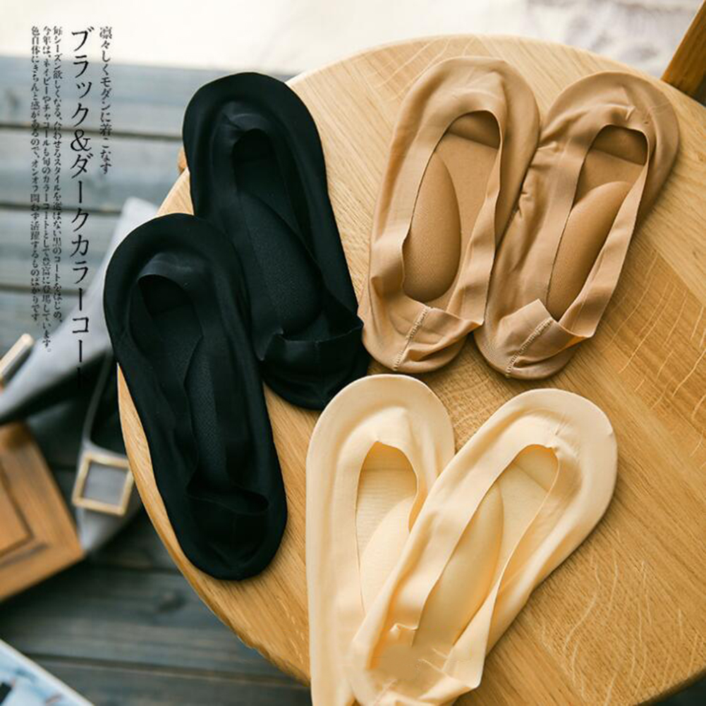 Thin Sweat-absorbent Boat Socks Super Shallow Mouth Invisible Socks Silicone Non-slip High Heel Socks