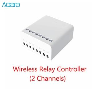 Image 5 - Aqara Eigenstone اتجاهين وحدة التحكم اللاسلكية التتابع تحكم 2 قنوات العمل ل Mijia Mi المنزل APP Homekit