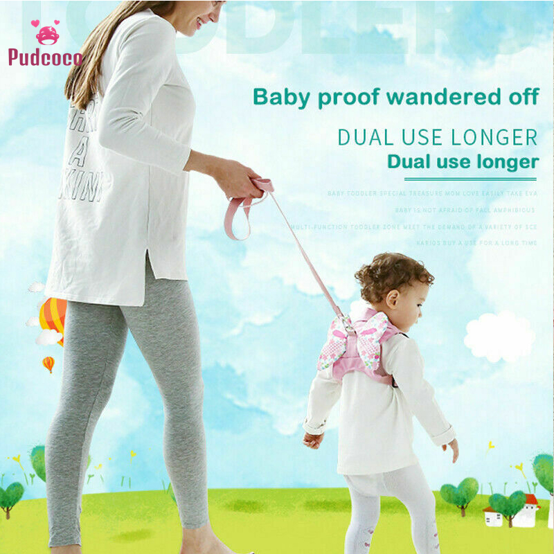 Pudcoco Baby Child Kids Toddler Walking Safety Harness Rein Backpack Walker Keeper Strap Anti Lost Leash Traction Belt 0-6Y