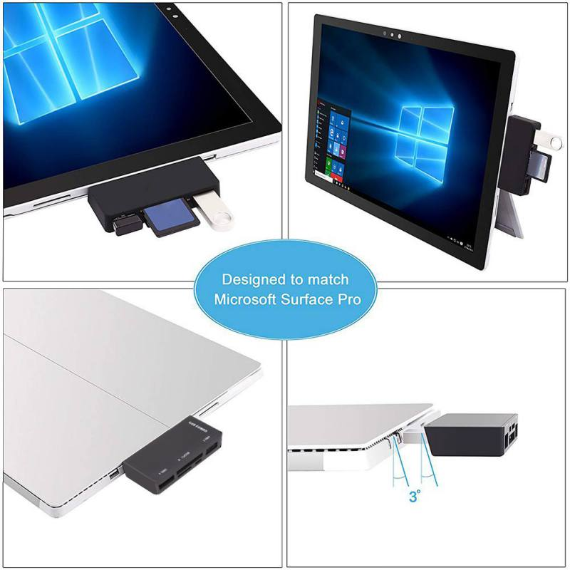 5-In-1 USB 3.0//2.0 HUB TF SD Card Reader Combo Adapter For Phone PC Surface 3 4