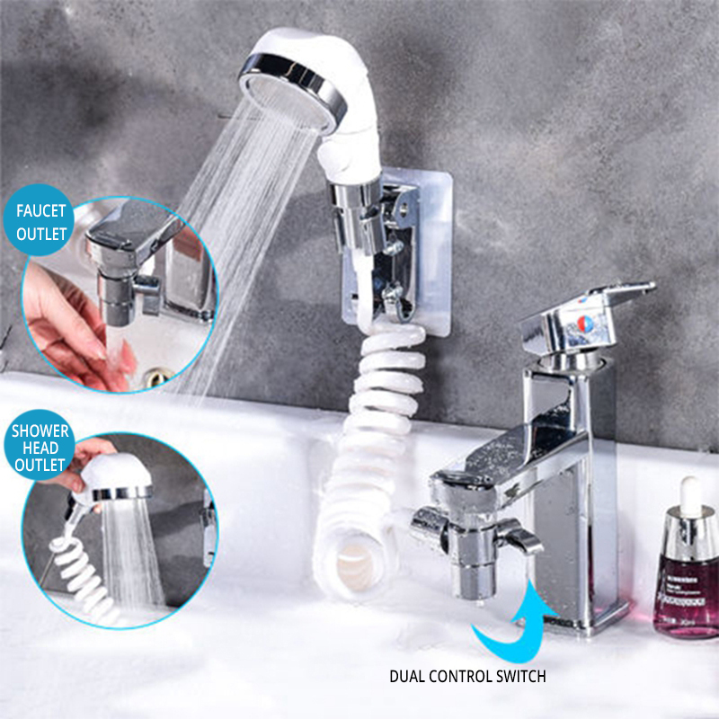 New Arrival High Pressure Water Saving Washing Hair Basin Faucet External Shower Head Bathroom Handheld Washing Hair Artifact 1