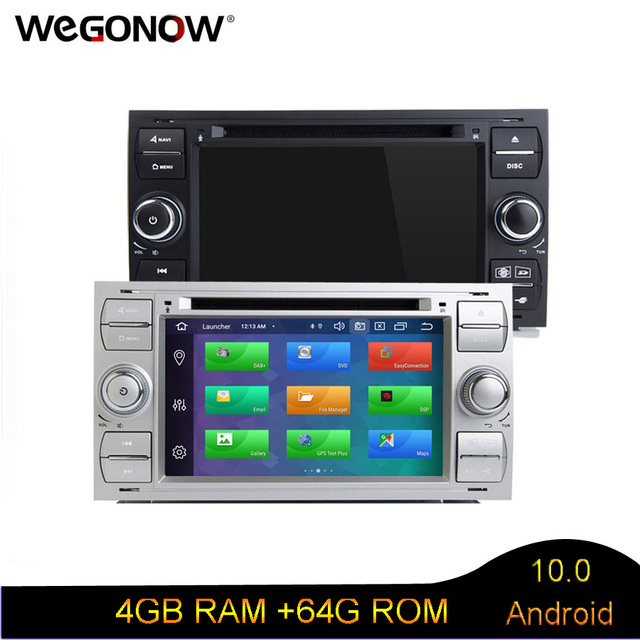Android 10 Octa Core 4GB+64GB GPS RDS Radio BT WIFI Car dvd player for Ford Galaxy Fusion C MAX S MAX Focus Mondeo C S MAX Kuga