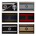 3d-вышивка, знак с изображением герба Израиля, черепа, уличная сумка, рюкзак, наклейки на липучке, армейский тактический стиль, шляпа в стиле м...