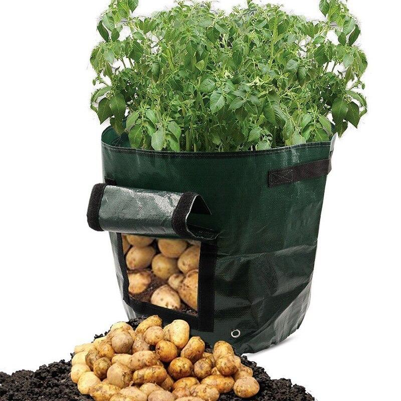 1Pcs Bags Garden Pots Planters Vegetable Planting Bags Grow Bag Farm Home Garden Tool Potato Cultivation Planting Woven Fabric