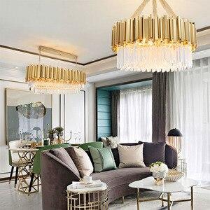 Image 4 - Jmmxiuz2018 nowy kryształowy luksusowy żyrandol nowoczesne oświetlenie do salonu jadalnia złoty kryształowy żyrandol LED lights