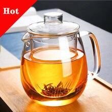 Бытовая чайная посуда стеклянный чайный горшок для плиты термостойкий