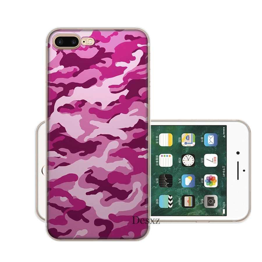 حقيبة هاتف محمول ل فون أبل XR X XS ماكس 6 6s 7 8 P Lus 5 5S SE قذيفة الجيش كامو التمويه نمط حماية الأزياء