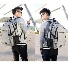 LOOZYKIT 32*18*48CM School Backpack Men Backpack Bag Brand 15.6 Inch La