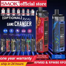 Nowy zestaw do e-papierosa RPM80 3000mah bateria 5ML kaseta i zestaw SMOK RPM80 PRO RPM RPM80 RGC Pod E parownik papierosowy RPM80 VS RPM40 tanie tanio Z Baterią CN (pochodzenie) Cylindryczny Kształt Brak Metal RPM80 RPM80 pro Wbudowany Built-in battery extenal battery