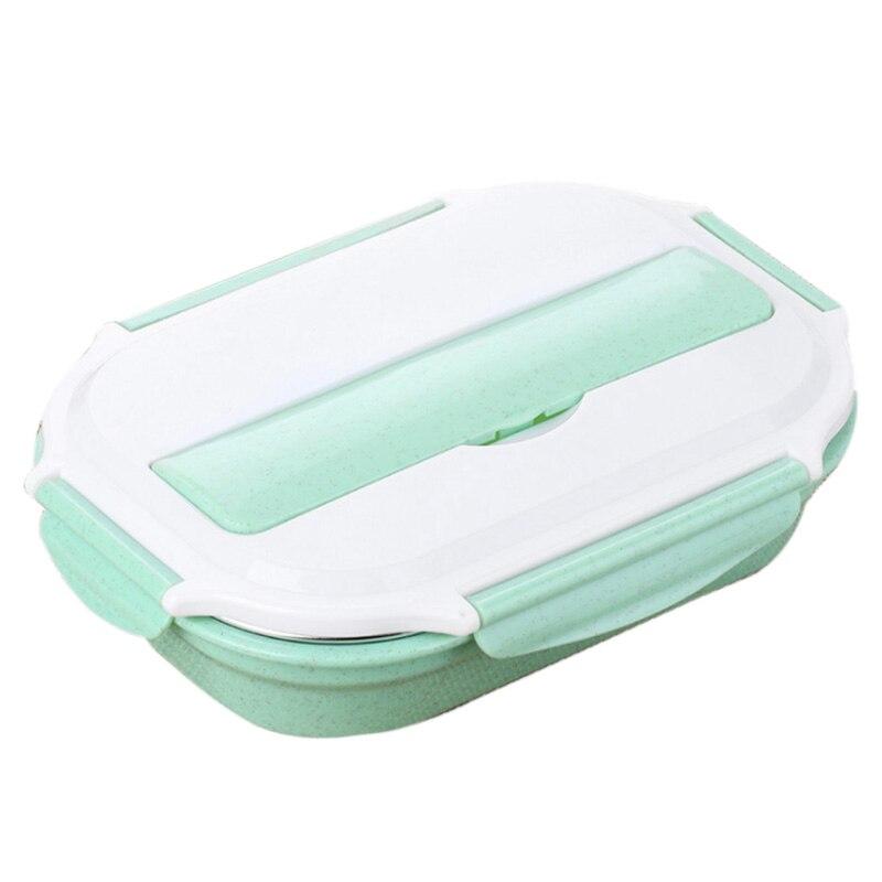 JHD-коробка для еды из нержавеющей стали Bento Ланч-бокс набор - Цвет: Green