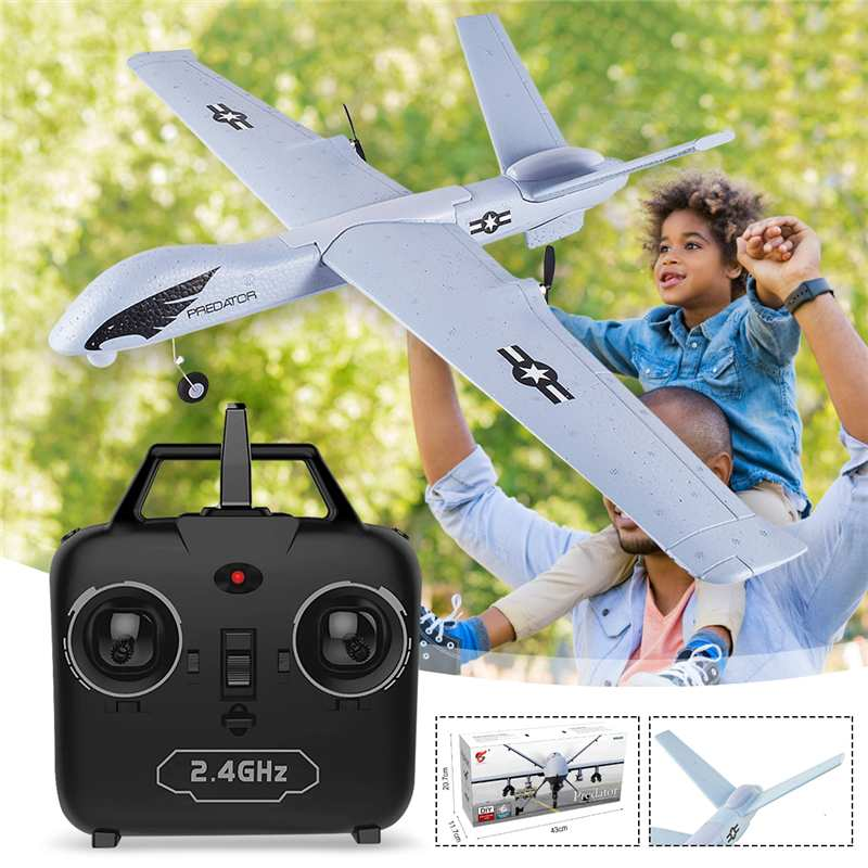 Z51 Predator RC Airplane Remote Control RC Plane 2.4G 2CH 660mm Wingspan EPP DIY Glider RTF Built-in Gyro Flying model for Kids image