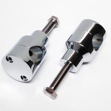 цена на Aluminum 7/8 1 Handlebar Riser For Harley Custom Springer Bobber Chopper For 22mm 25mm Handlebars