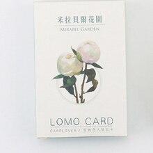 L22-цветочная садовая бумага поздравительная открытка ЛОМО(1 упаковка = 28 штук