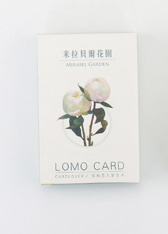 52mm*80mm Flower Garden Paper Greeting Card Lomo Card(1pack=28pieces)
