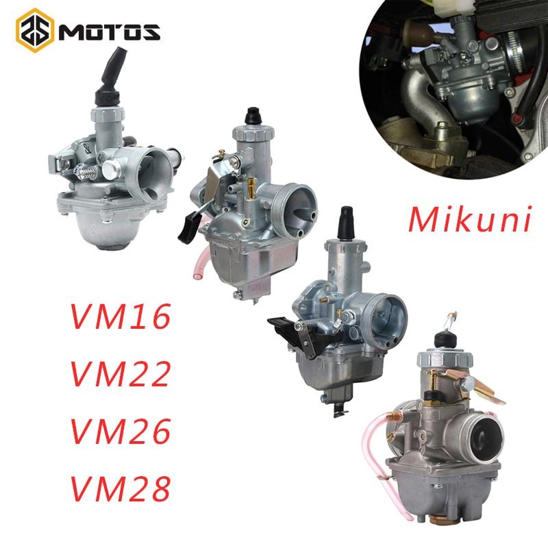Карбюратор ZS для мотоцикла Mikuni VM16 VM22 VM26 VM28, КАРБЮРАТОР 19 мм 26 мм 30 мм 32 мм для грязи 50-200cc, питбайк, четырёхкамерный карбюратор для квадроцикло...