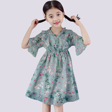 Girls Summer Dress Casual Style Dress For Girl Floral Patter