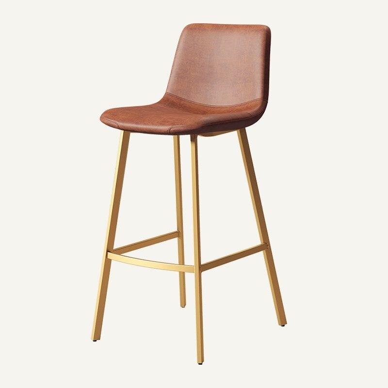 Nordic Bar Chair Iron High Stool Creative Home Modern Simple Bar Stool Leisure Coffee Bar Chair