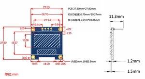 """Image 4 - 2020 yeni tasarım 10 adet/grup 4pin yeni 128X64 OLED LCD LED ekran modülü 0.96 """"I2C IIC iletişim"""