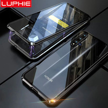 Luphie Full wrapped Case For honor 20 Luxury Magnetic Cover pro Front+Back 9H Tempered Glass phone
