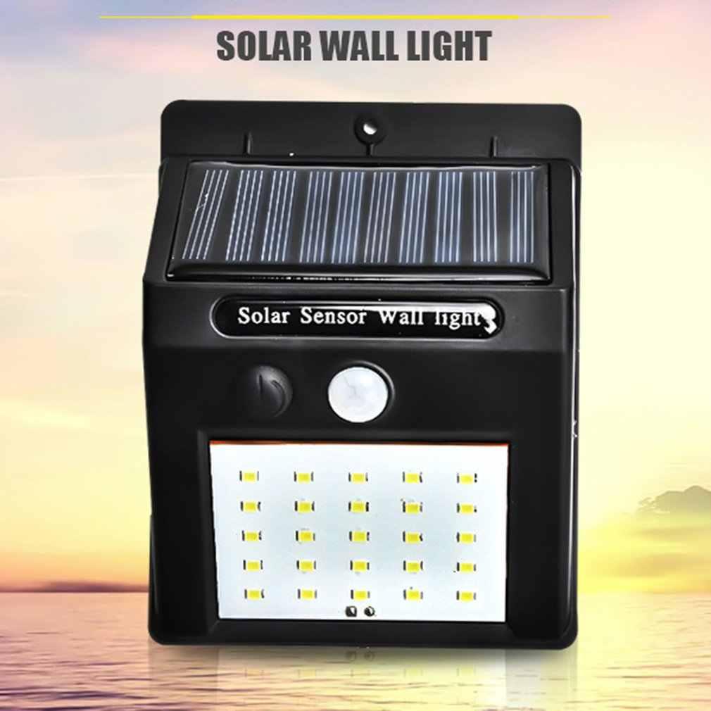 20 LEDs Outdoor Wall Lamp Solar Panel Security Light PIR Motion Sensor Lamp Waterproof Induction Lamp Garden Lamp Dropshipping