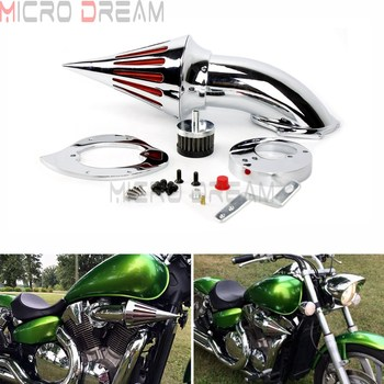 For VTX 1300 2007 Motorcycle Billet Aluminum Cone Intake Spike Air Cleaner Kit For Honda VTX1300 All Years Washable Air Filter image