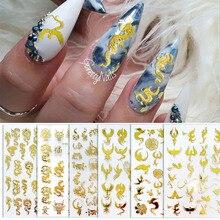 Slider-Decals Nail-Art-Sticker Manicure-Tips Self-Adhesive Dragon Phoenix-Design