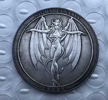 Americano morgan hobo moeda artesanato feminino diabo anjo comemorativo presente da moeda