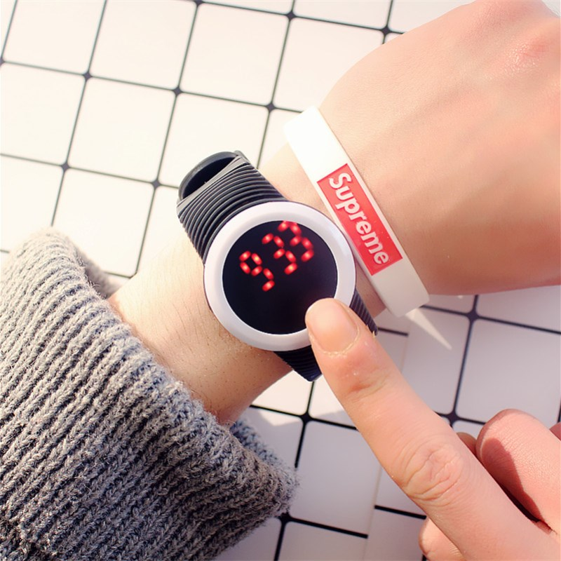 MEIBO Fashion Round LED Outdoor Watches For Women Silicone Jelly Men's Sportswear Quartz WristWatches Relogio Masculino Watches