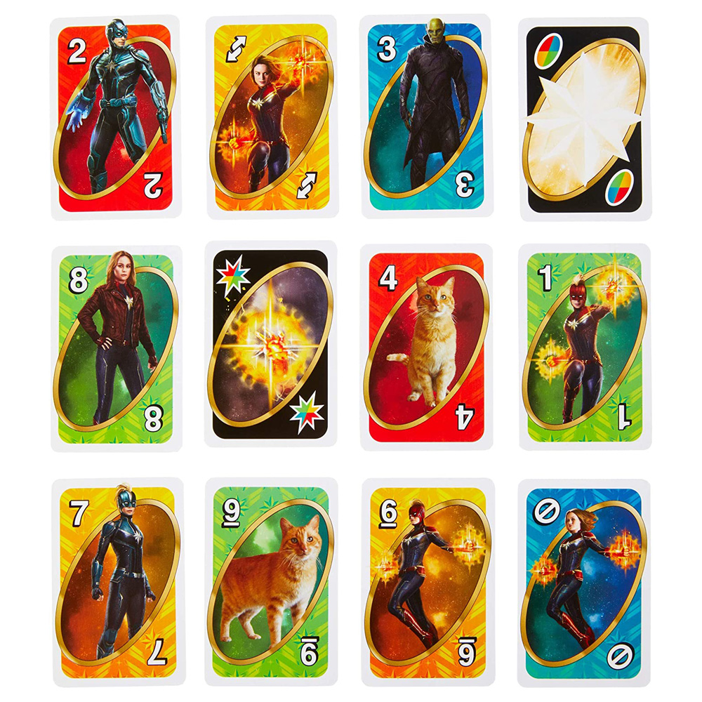 Mattel Uno Avengers Marvel Card Games Familie Grappig Entertainment Bordspel Poker Kinderen Speelgoed Speelkaarten