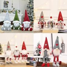 Christmas Doll Toys Santa Claus Snowman Elk Christmas Tree Hanging Ornament Decoration