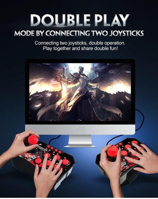 4 in 1 USB Rocker oyun denetleyicisi oyun kolu Gamepad sokak dövüş sopa  PS3/PC anahtarı NS için android fişi - hl.markochkupa.se
