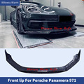 For Porsche Panamera 971 Forged carbon fiber Front Bumper Lip Splitter chin front shovel Car body kit 2017 2018 2019