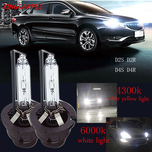 Image 1 - 2 piunids/lote D2S lámparas de xenón D2R D4S D4R coche HID reemplazo de bombillas 4300K 6000K faro brillante de xenón lámpara de luz blanca